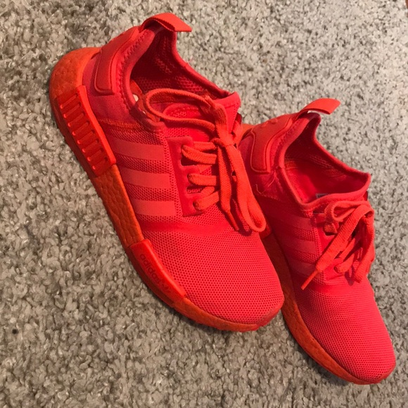 meet 9afc6 68f4e ADIDAS NMD R1 SOLAR RED TRIPLE RED *slightly used*
